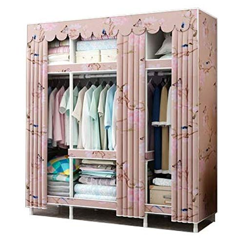 AQAWAS Portable Closet Wardrobe, Closet Storage Organizer Quick and Easy to Assemble, Fabric Wardrobe Extra Strong and Durable, Home Bedroom Furniture,Garden_15045172cm from AQAWAS