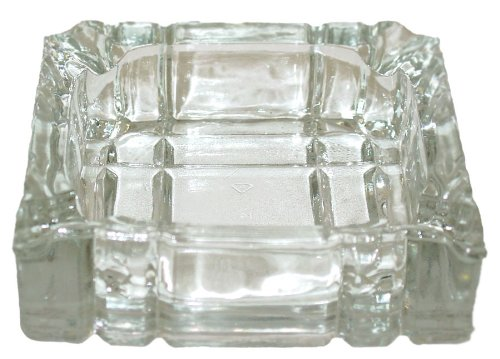 Ashtray Glass Square - 4
