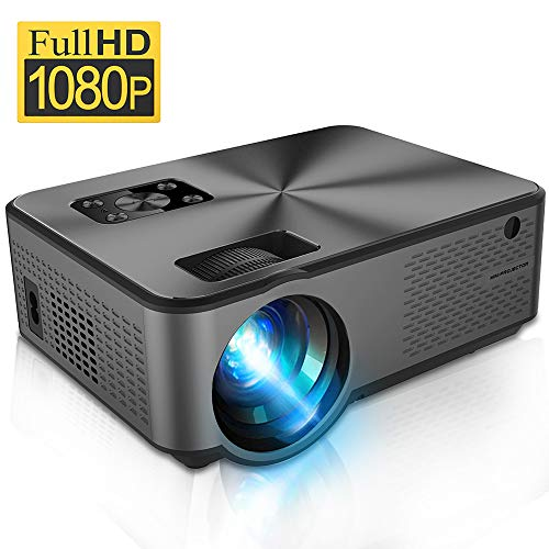Video Projector, iBosi Cheng Portable Mini LCD Movie Projector Native 720P Full HD LED Home Theater Projector Support 1080P with HDMI/USB/VGA/AV Ports for Smartphones PC Laptop Gaming Devices