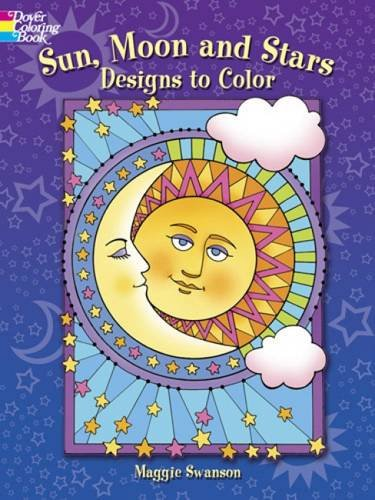 Sun, Moon and Stars Designs to Color (Dover Coloring Books) - Coloring Book Moon