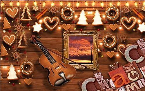 Cucsaistat Fondo de Pantalla de violín de Madera Tallado en Madera ...