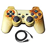 Bowink Wireless Bluetooth Controller For PS3 Double Shock - Bundled with USB charge cord (Mars)