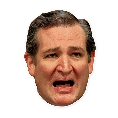 Ted Cruz Mask - Perfect for Halloween, Masquerade, Parties, Events, Festivals, Concerts - Jumbo Size Waterproof Laminated