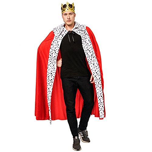 Adult Men's Luxury King Cape Costumes (Cape&Crown) Red]()