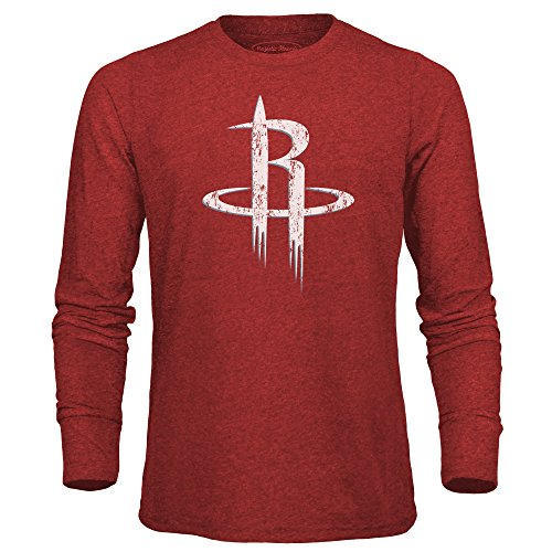 Majestic Threads Adult NBA Men's Premium Triblend Long Sleeve Tee, Red, X-Large