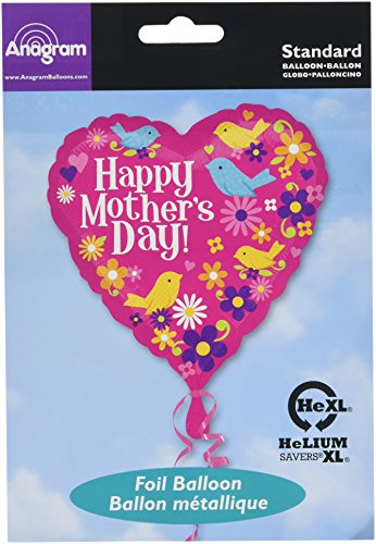 Anagram Happy Mothers Day Birds 18 Inch Foil Balloon