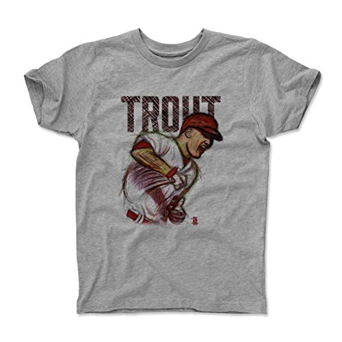 500 LEVEL's Mike Trout Kids Shirt Toddler  Heather Gray - Lo