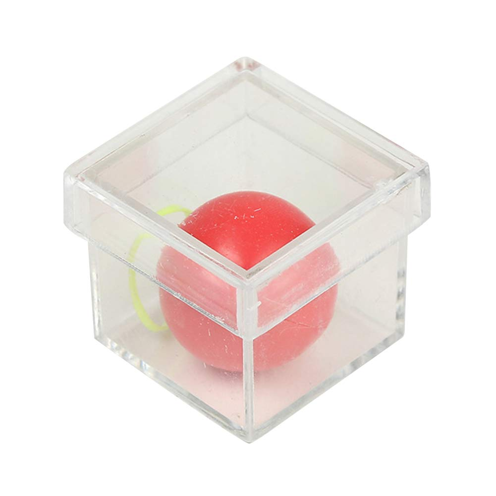 LeSharp Magic Kits Accessories, Amazing Funny Ball Through Box Illusion Magic Conjure Magician Trick Game Props - Transparent