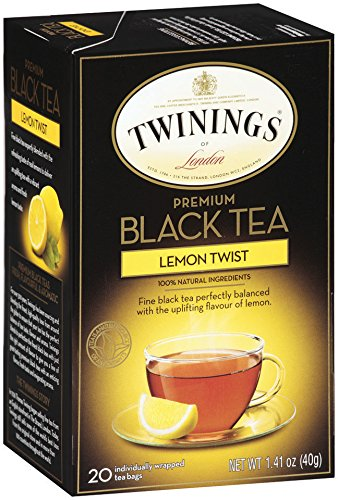 Twinings Flavored Black Tea, Lemon Twist, 20 Count Bagged Tea (6 Pack) (Lemon Twinings Tea)