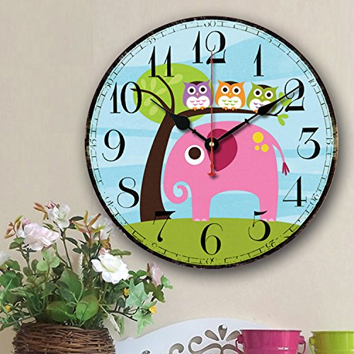 Cute Wall Clock, - nursery wall clock for boy girl