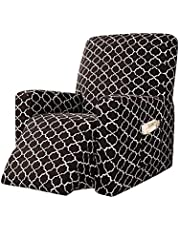 HMGANG Printed Recline Sofa Couch Cover for Living Room Recliner Chair Cover All-Inclusive Massage