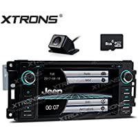 XTRONS 6.2 HD Digital Touch Screen GPS Navigation Car Stereo Radio DVD Player with Screen Mirroring Function for Jeep Grand Cherokee Dodge Chrysler Sebring Map Card Reversing Camera Included