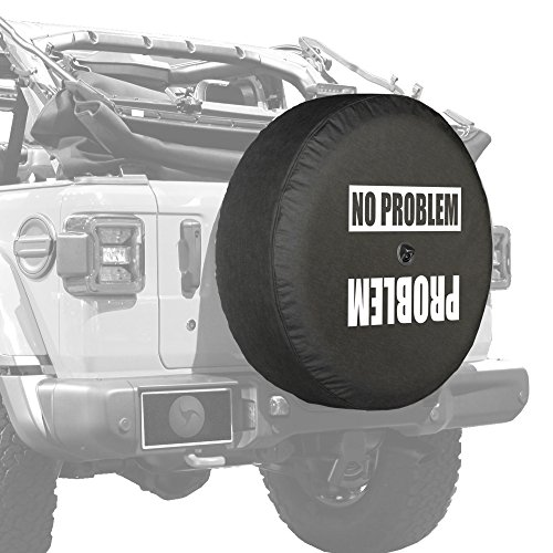 Boomerang Tire Cover - Boomerang - Soft JL Tire Cover for use with 2018-2019 Jeep Wrangler Rubicon JL (with Back-up Camera) - Problem No Problem