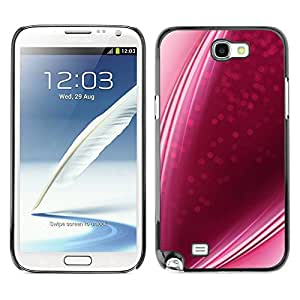LASTONE PHONE CASE / Slim Protector Hard Shell Cover Case for Samsung Note 2 N7100 / Candy Lines Strawberry Love