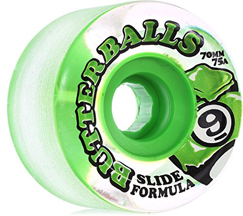 Sector 9 Butterball 70mm Clear Green Skate Wheels