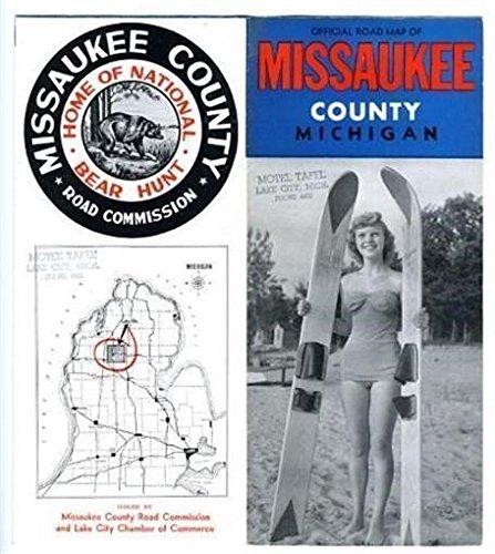 Missaukee County Michigan Map & Brochure 1950s National Bear Hunt
