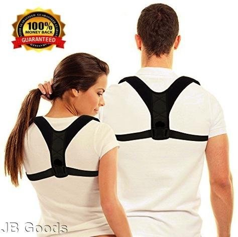 J*B Goods - Back Brace Posture Corrector for Men Women Shoulder Device