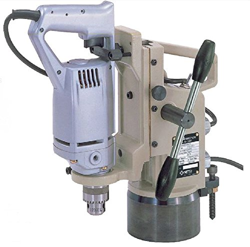 Nitto Kohki M-100D Atra Ace Manual Feed Magnetic Drill, 3/8'' Hole Capacity by Nitto Kohki