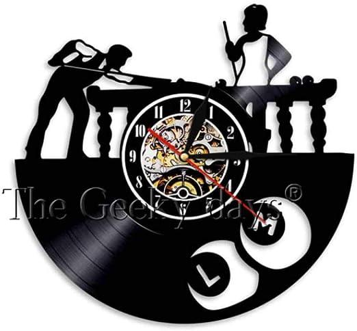 MUMUSO Billar Disco De Vinilo Reloj De Pared Mesa De Billar Reloj ...