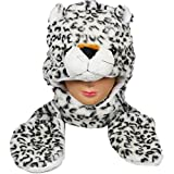 iphone 5 accesories hello kitty - Snow Leopard_(US Seller)Plush animal hats with mittens Cap Earmuff Long