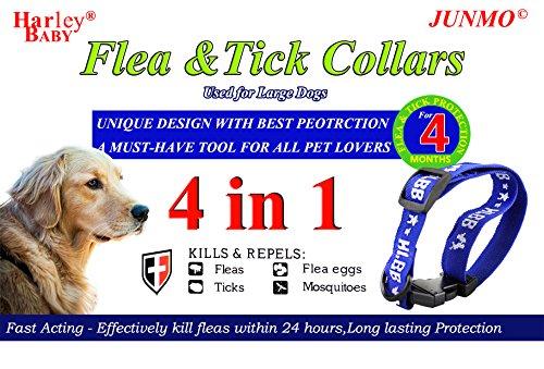 Zeckenhalsband für kleine, mittlere und große Hunde & Katze Der Natürliche Zeckenschutz Wirksamen Schutz gegen Flöhen, Zecken und Läusen Halsband gegen Ektoparasiten (Large, Blau(Hund))