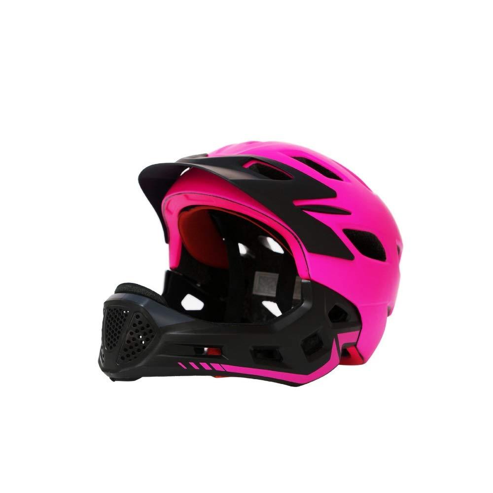 スケートボードのバイクBMXとスタントスクーターに最適な子供向けアーバンスケートヘルメットオレンジピンクイエローブルー年齢ガイド3-8歳男の子/女の子(56-62cm) (Color : Pink)   B07R8JMY6L