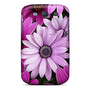 Premium Pink Flowers Back Cover Snap On Case For Galaxy S3