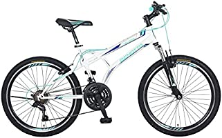 Benotto MSHFIR2421UNBL Bicicleta de Acero Rodada R24, Hombre, Frenos V, 21 Velocidades