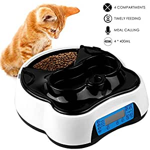 Pet Supplies : Pedy Automatic Cat Feeder 2 in 1, Dog Auto