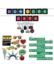 TCS Party Bundles New York City Decorations 28 Piece Bundle Banner Photo Fun Signs Street Signs