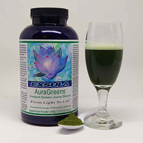 AuraGreens - Easy to Mix Green Powder - No Blending, No Juicing - Helps in Weight Loss and Promotes Improved Immunity - Aids in Cleansing and Detoxification (Powder: 240g) by Friend of the Earth