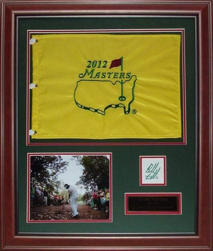 Bubba Watson Autographed Signed Auto 2012 Masters Champion Deluxe Framed Flag Piece Certified Authentic
