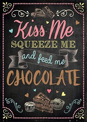 Kiss me Chocolate Cartel de Chapa Placa metal Estable plano Nuevo 15x20cm VS5417-1