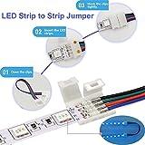 5050 RGB LED Strip Connector Kit- FSJEE 10mm 4pin