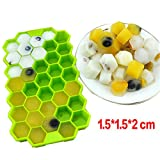 Bestag Silicone Ice Cube Trays with Lids BPA Free Easy Release Cubes Ice Trays (Green)