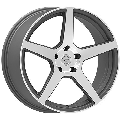 Platinum 432GN Elite Gloss Graphite with Diamond Cut Face and Clear-Coat Wheel (19x10