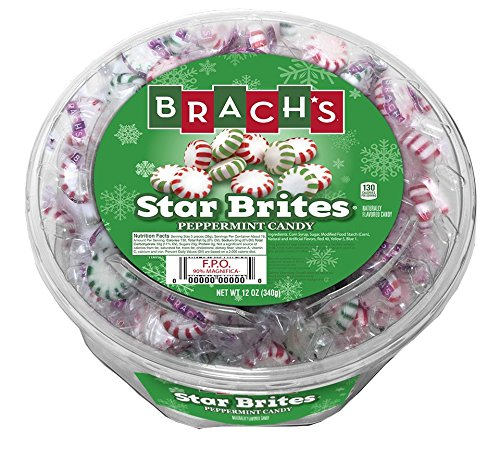 Brach's Star Brites Candy, Peppermint, 12 Ounce (Pack of 12) by Brach's