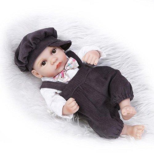 "11/"" MINI Baby Dolls Vinyl Lifelike Reborn Soft Silicone Lovely BOY Doll US SHIP"