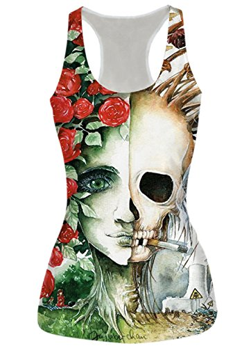 Leapparel Womens Printed Sleeveless Racerback product image