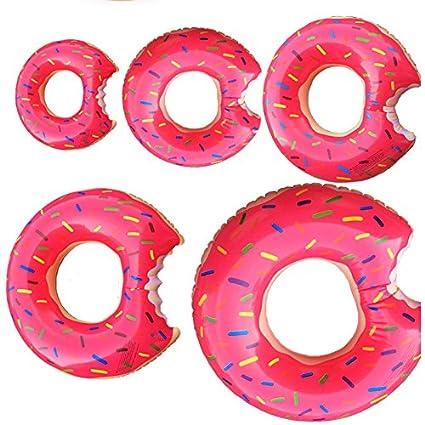 Asdomo - Flotador hinchable para piscina, forma de donut de chocolate, rosa: Amazon.es: Deportes y aire libre
