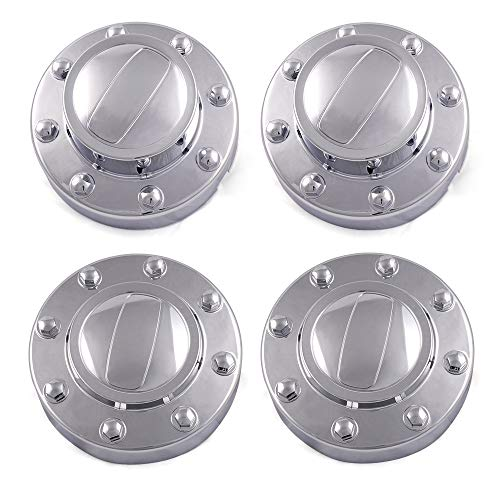 Fit for Dodge Ram 3500 1-TON Dually DRW 2011-2016 New Alcoa Alloy Wheel Chrome Center Caps 2 Front and 2 Rear Replacement Set of 4