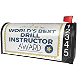 NEONBLOND Worlds Best Drill Instructor Certificate Award Magnetic Mailbox Cover Custom Numbers