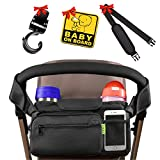 [NEWEST 2018] BEST STROLLER ORGANIZER Stroller Accessories + BONUS Stroller Hook, Shoulder Strap & Baby on Board Sticker   Insulated Cup Holders - Perfect for Jogging, Travelling or Shopping by Kaywee