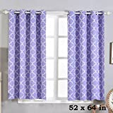 Cheap BalsaCircle 52 x 64-Inch Lavender Lattice Design Blackout Window Drapes Curtains 2 Panels with Grommet Top – Home Decor Party
