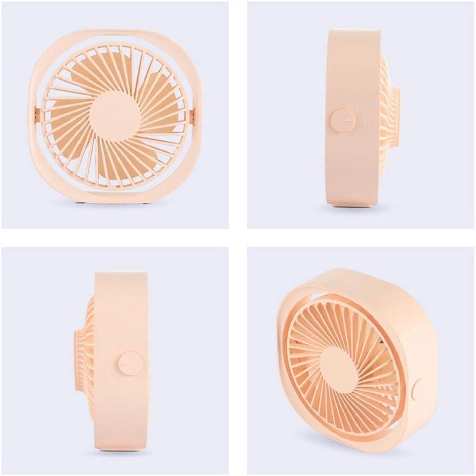 3 Speeds Erosffs Mini USB Desk Fan USB Powered Pink Fan for Home and Office Lower Noise