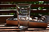 Movie On Glass - Forrest Gump Movie Engraved Logo Pint Beer Glass