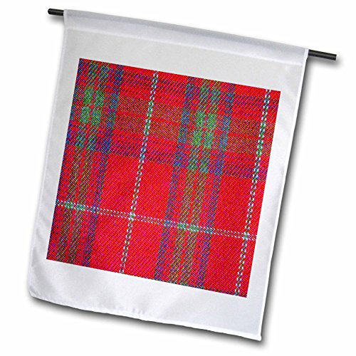 3d Rose 3dRose fl_113037_1 Traditional Red Tartan Pattern...