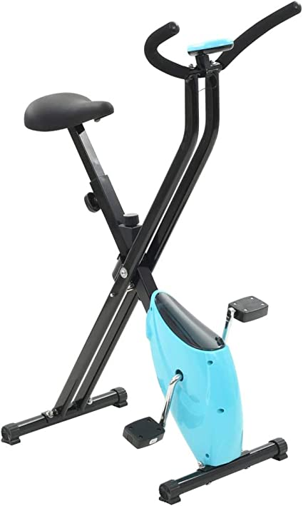 vidaXL Bicicleta Estática X-Bike Resistencia Cinta Azul Fitness ...