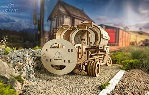 Mechanical UGEARS wooden 3D puzzle Tanker Construction Set