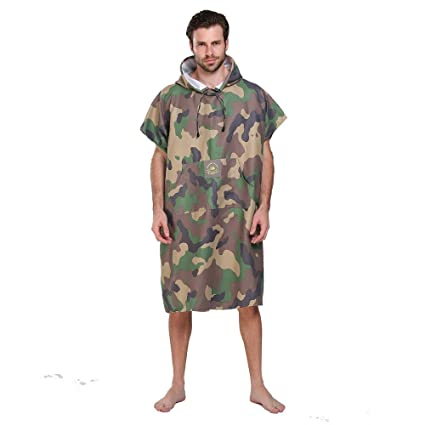 bb0ce1eb4d3c50 Hiturbo Beach Surfing Swimming Robe,Wetsuit Changing Towel Poncho with  Hood,Unisex